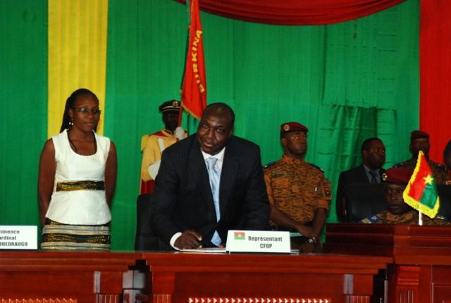 Le Chef de file de l'opposition, Zéphirin Diabré