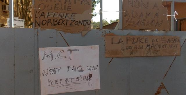 Les agents du ministère de la santé et les acteurs culturels ont exprimé leur mécontentement (©Burkina24)