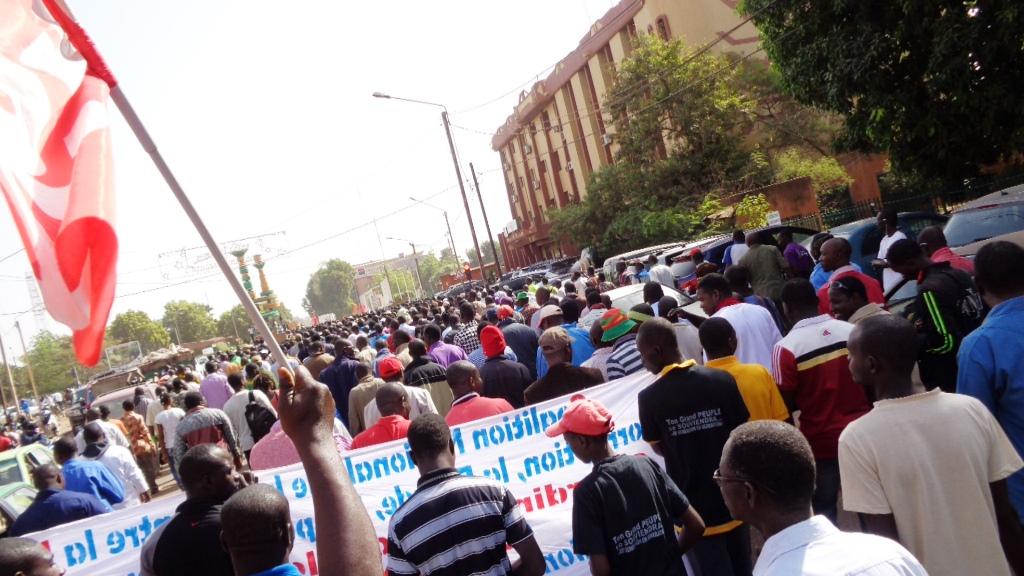 Les manifestants sortis réclamer justice pour Nobert Zongo, ce samedi (copyright Burkina24)
