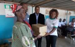 La JEP offre des pommades pour le froid aux pensionnaires du Centre Delwendé