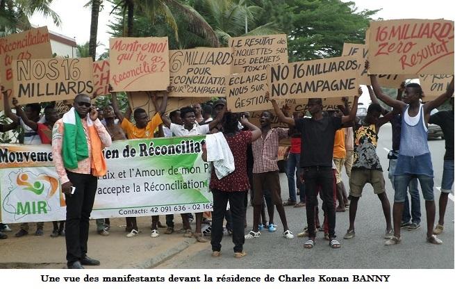 Les manifestants demandent des comptes à Banny