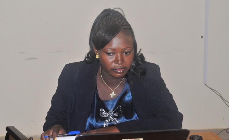 Roukiatou Ouedraogo, chargée de communication et de plaidoyer du SPONG