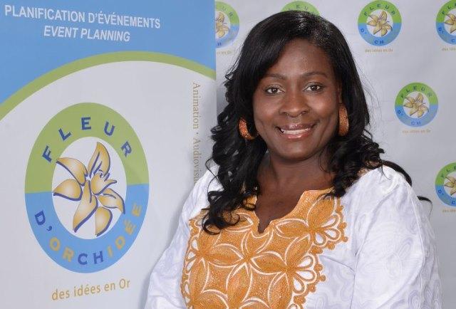 Sylvie M. Guiguemdé réside au Canada depuis plus de 10 ans. Elle est la Présidente et Fondatrice de Fleur d'Orchidée, agence événementielle organisatrice des Journées culturelles et économiques burkinabè du Canada. ©CentrePHOTOLavalinfo