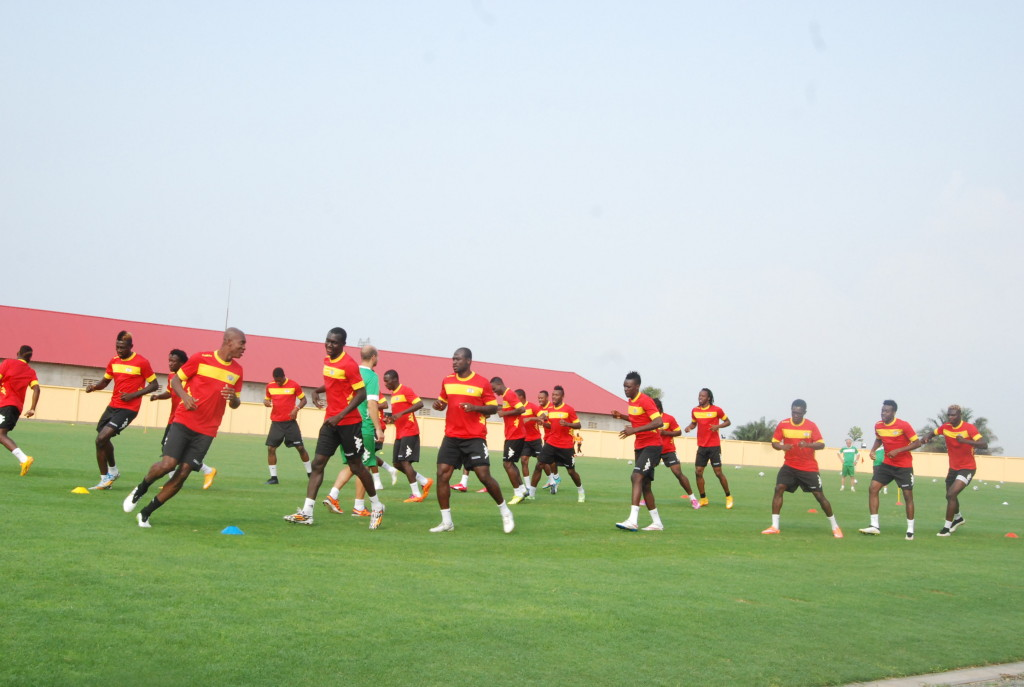 Etalons du Burkina entraînement