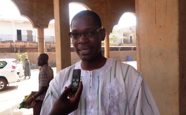 Le chargé de programmes à DIAKONIA-Burkina, Lucien Ouédraogo