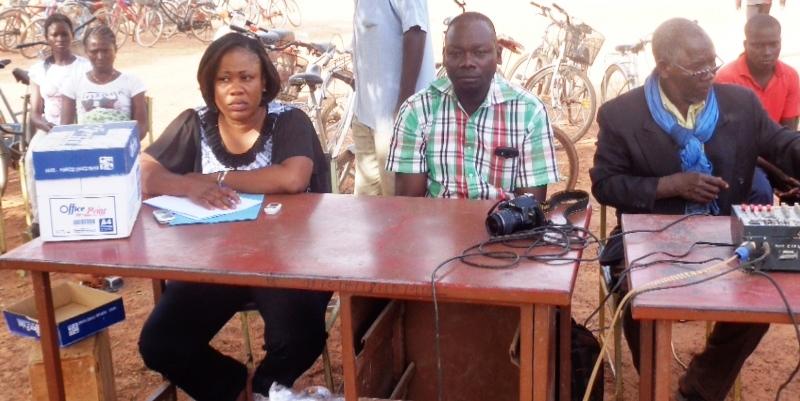 Les principaux animateurs de la conférence publique sur le VIH à Saponé