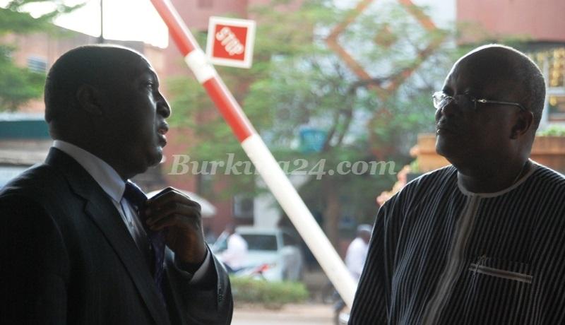 Zéphirin Diabré et Roch Marc Christian Kaboré le 12 novembre 2015 à Ouagadougou  © Burkina24
