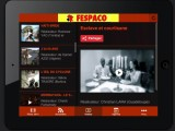 Aperçu de l'application mobile du FESPACO sur iPad