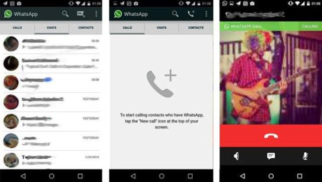 Capture d'écran Appels Vocaux WhatsApp sur certains smartphones