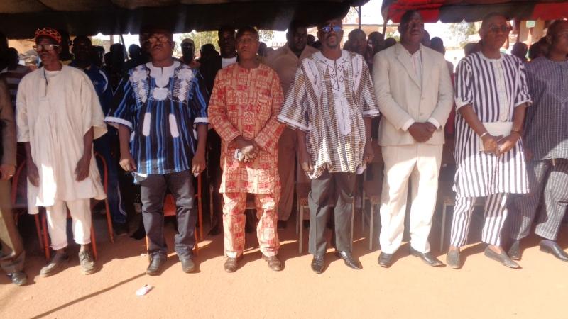 Les leaders du Front progressiste sankariste lors du deuxième meeting du parti  à Kaya.