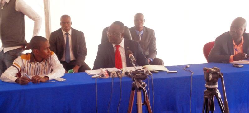 Les responsables de la CENI face à la presse, ce mardi 24 février 2015 © Burkina24
