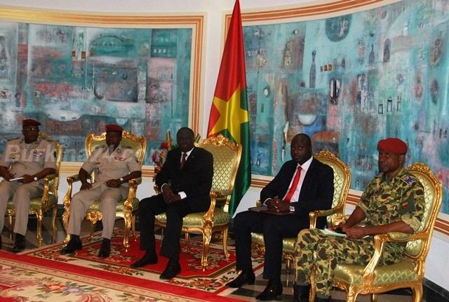 Le président de la transition a reçu les chefs militaires