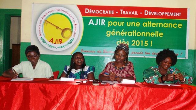 Des membres du bureau de la coordination provinciale de femmes du Kadiogo