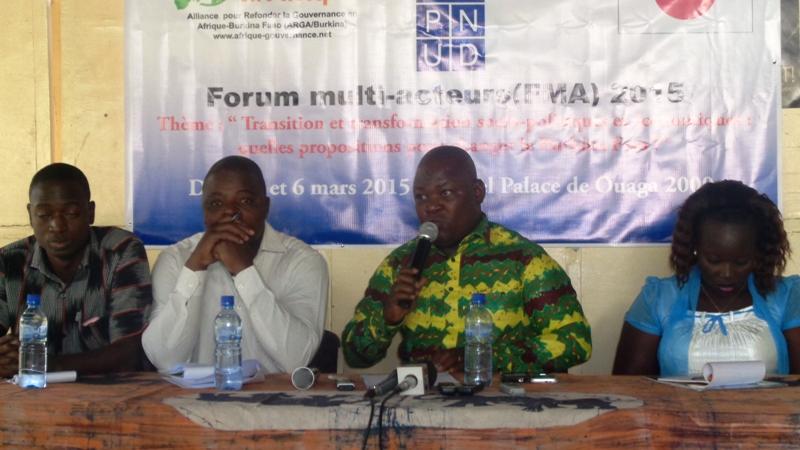 Des responsables de l'ARGA-Burkina étaient face aux journalistes ce lundi 2 mars 2015 au Centre de presse Norbert Zongo.