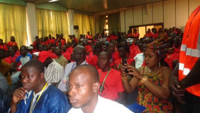 Les militants du CAR mobilisés pour l'occasion © Burkina24
