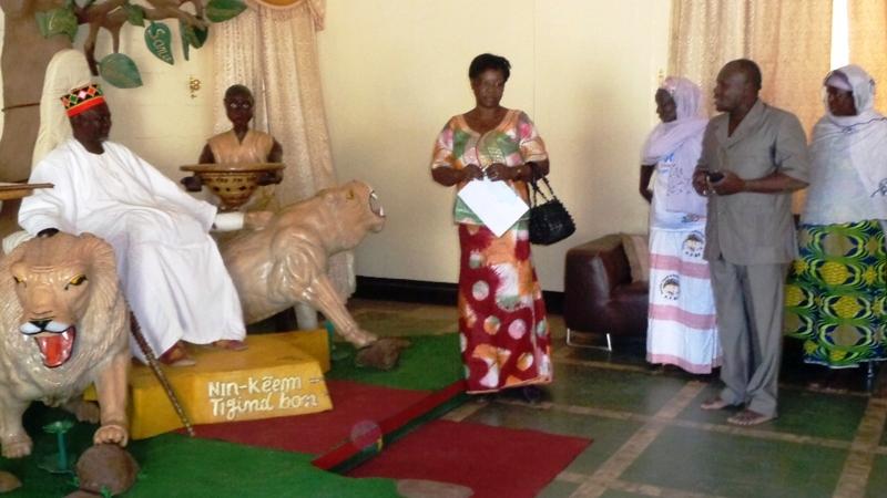 Président de l'association Yolgumdé du Burkina Faso (AYBF), Tiendrébéogo R. Alassane chez le Mogho Naaba