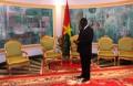 Michel Kafando, président du Faso, au palais de Kossyam le 27 avril 2015  © Burkina24