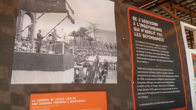 Toile illustrative du début des indépendances en Afrique