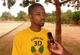 Aziz Sana,  président du Collectif 3D  © Burkina24