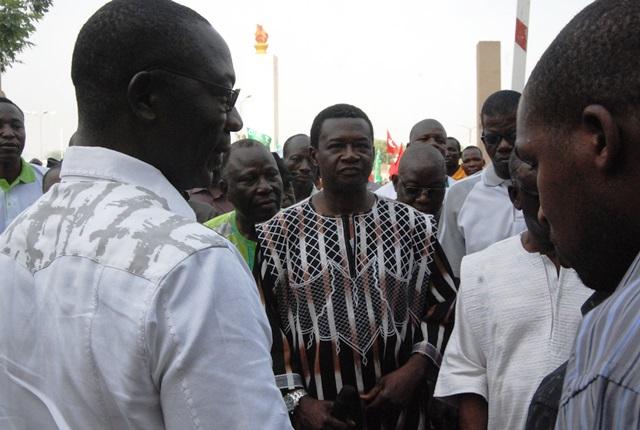 Le ministre de la fonction publique a assuré les travailleurs que le gouvernement est à leur écoute  © Burkina24