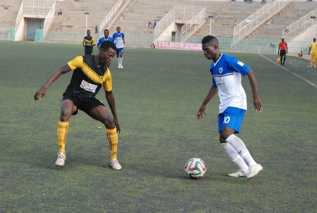 Yacouba Songné a été maladroit pendant cette rencontre entre l'EFO et l'ASFB
