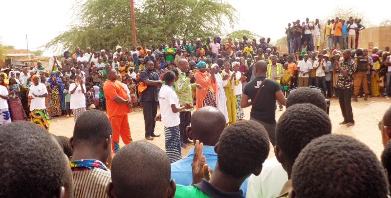 Aperçu de la mobilisation des militants du MPP dans la région du Sahel. (©Burkina24)