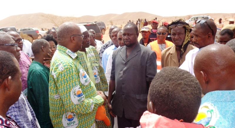Le président du MPP a rencontré le Vice-président du Syndicat national des orpailleurs, Souli Moustapha. (©Burkina24)