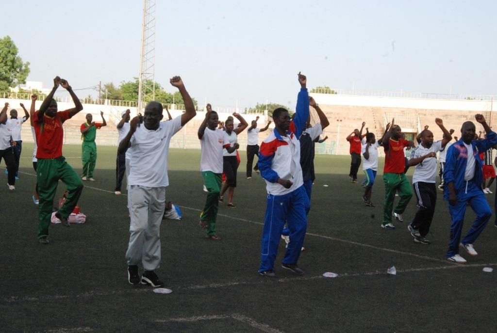 Les autorités en charge du ministère des sports et des loisirs ont voulu donner l'exemple