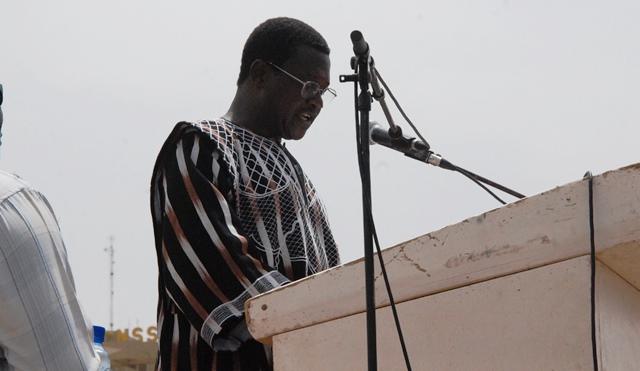 Yamba Georges Koanda, président de mois des centrales syndicales  © Burkina24