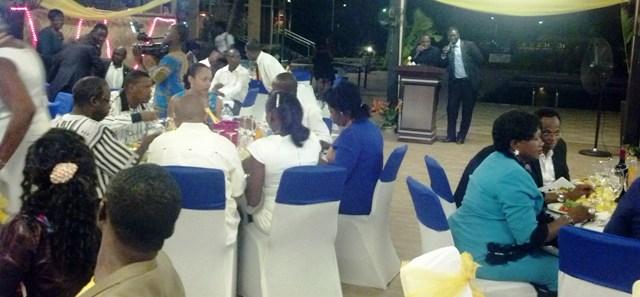 Une vue des convives à la soirée gala.