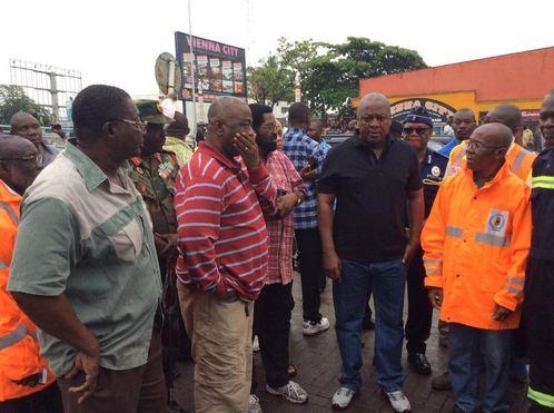 Le président John Dramani s'est rendu sur les lieux le Jeudi 04 Juin très tôt dans la matinée pour constater les dégâts.