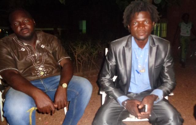 Rasta et son ami Alidou.