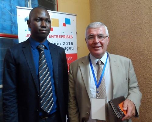 Omar Coulibaly, DG de InnoFaso, en compagnie de Michel Lascanne, président du groupe Nutriset ©B24
