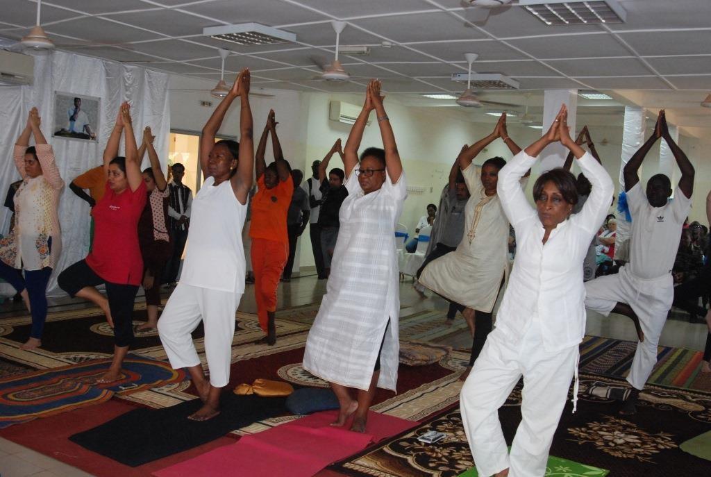 Les yogis ont permis au public présent de voir comment se pratique le yoga