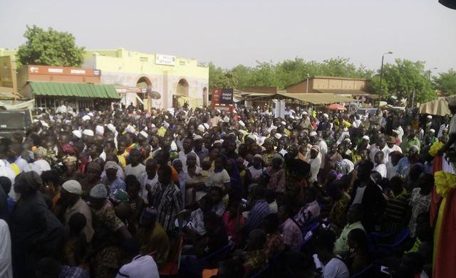 Les militants du CDP lors du meeting  © Burkina24