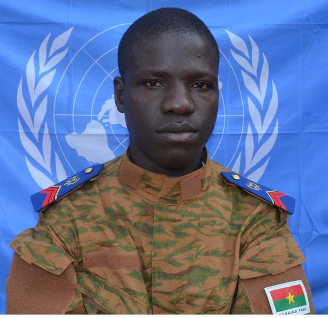 Caporal ILBOUDO Saidou 34 RIA / 3 RM, (nouvelle position RA/GCAS)