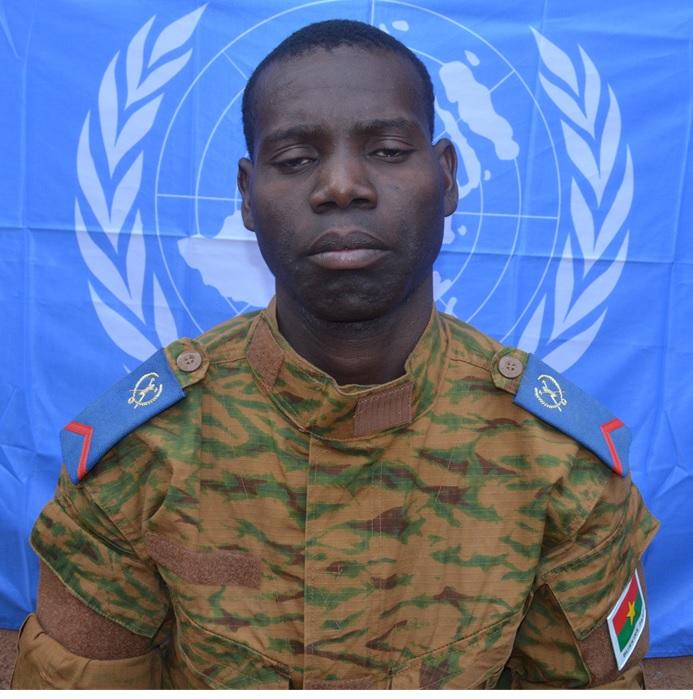 Caporal NAPON Abdou  Racide (1ere classe sur la photo) 24 RIA / 2 RM