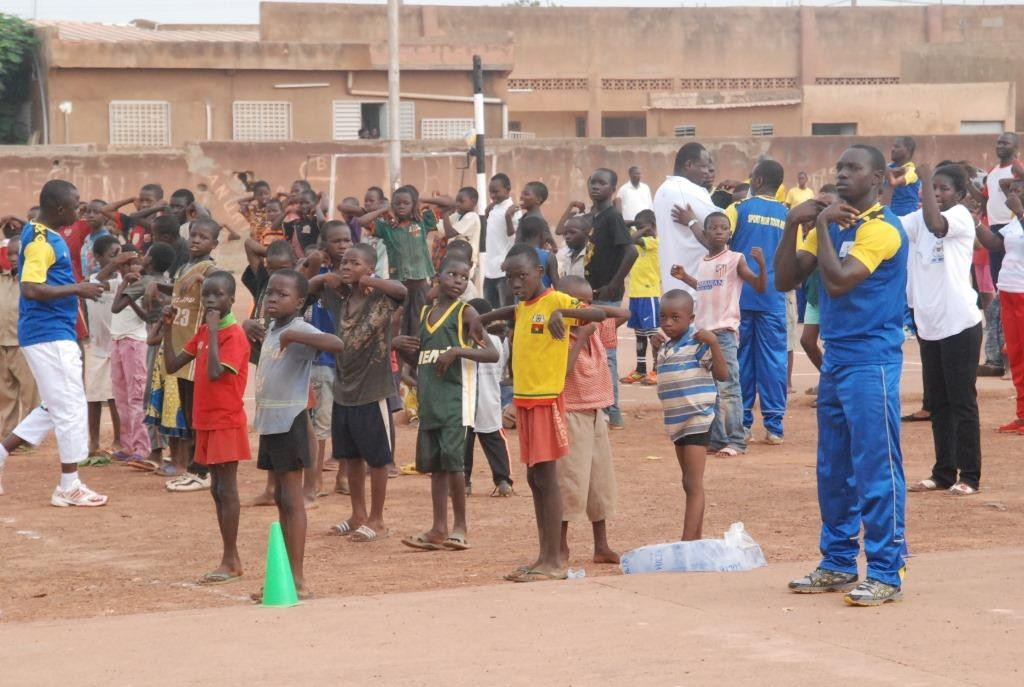 Les enfants ont également pris à la séance d'aérobic