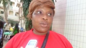 Tiala Kadidia, membre du mouvement citoyen en rouge au Burkina