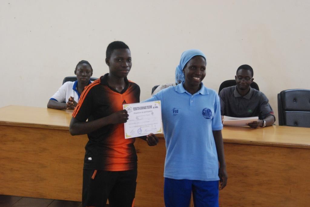 Maria Ouattara (gauche), championne du Burkina a aussi pris part à ce stage de formation pour encadreurs