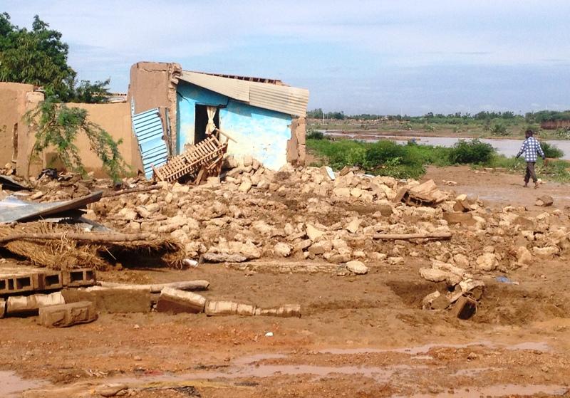 Plusieurs maisons ont été détruites par la pluie © Burkina24