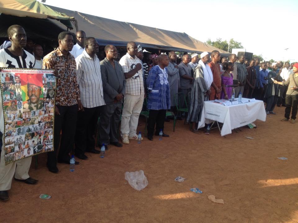 La commémoration de l'assassinat du président Thomas Sankara n'a pas eu lieu cette année au cimetière de Dagnoen, mais sur le terrain Miramar à Tampouy © Burkina24