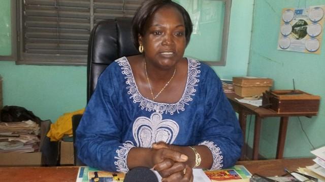 Madame Kobyagda/Ouali Ruth, directrice du centre apicole de Fada.