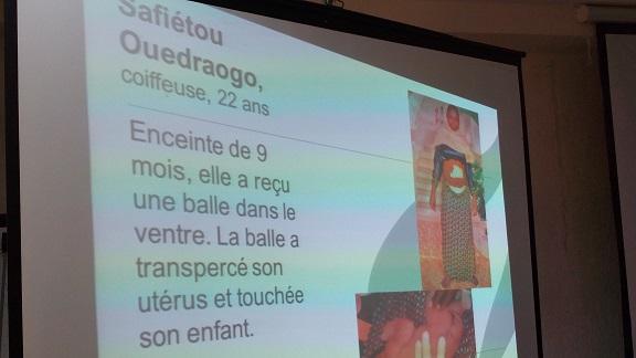 Safiatou Ouédraogo, victime miraculée