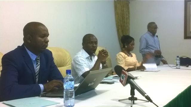 Une vue des représentants du CGD lors de la présentation des résultats