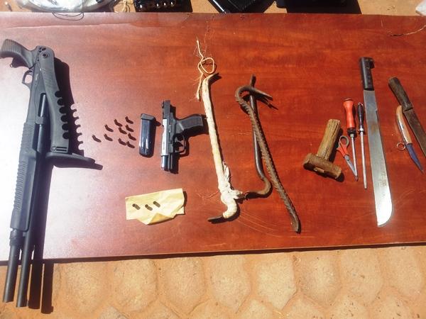 Les armes utilisées par les délinquants