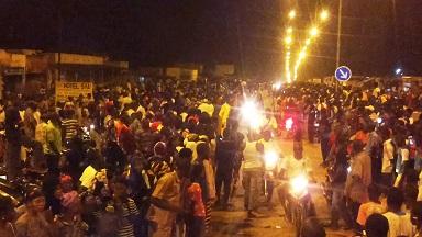 Les habitants de Bobo sortis accueillir les militaires