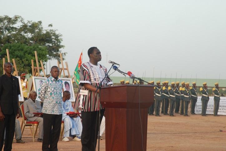 Michel Kafando, Chef de l'Etat, lors de son discours © Burkina24
