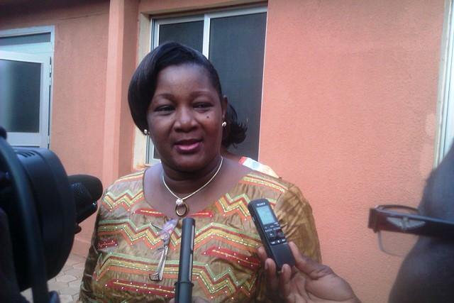 Le ministre Bibiane Boni, en charge de la promotion de la femme, a représenté le gouvernement