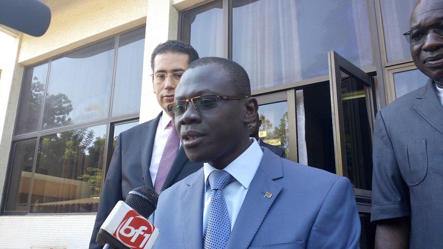 Réné Bagoro, ministre de l'habitat, le 16 octobre 2015